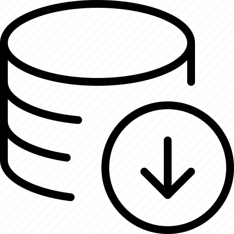 data, download, line, server icon