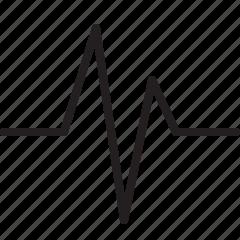 heart beat, signal icon