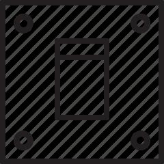 light switch, power switch icon