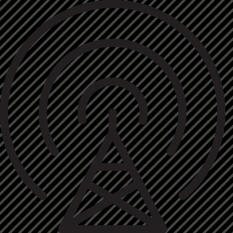 antenna, communication, radio, wave icon