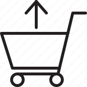 arrow, shopping cart, up icon