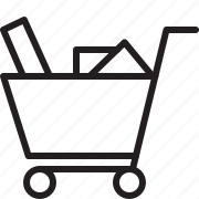 cart, e-commerce, products, shopping cart icon