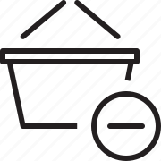 basket, remove from basket icon