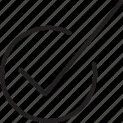 check, check mark icon