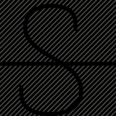strike-trough, strikethrough icon