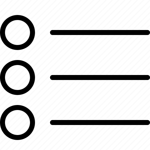 bullet, list icon