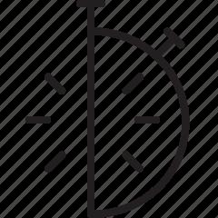 clock, half hour, time icon