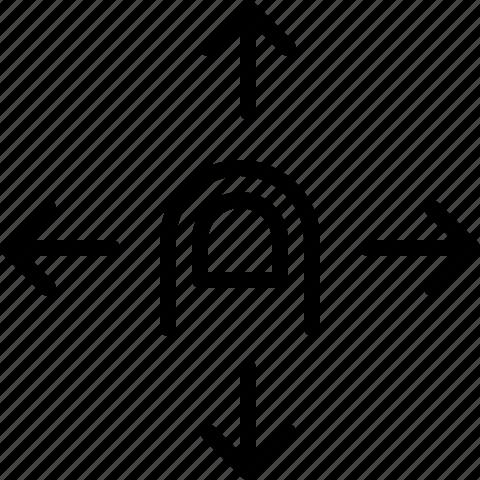 gesture, move icon