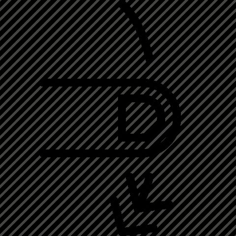 down, gesture, swipe icon