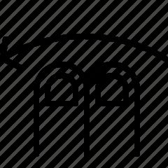 double, gesture, left, swipe icon