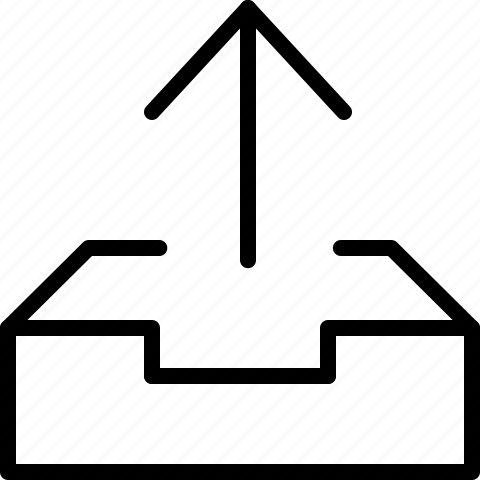 arrow, outbox, up icon