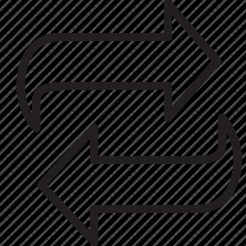 arrows, reload icon