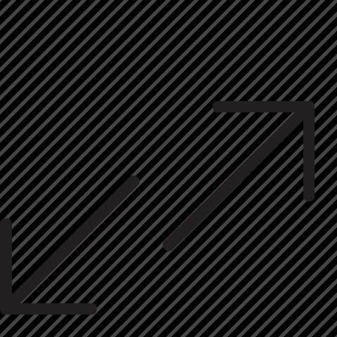arrows, down, up icon