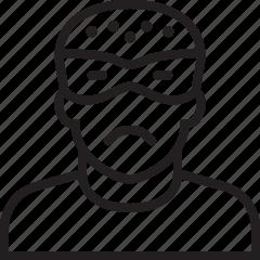 delete, remove, user icon