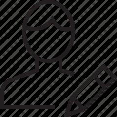 edit, user icon