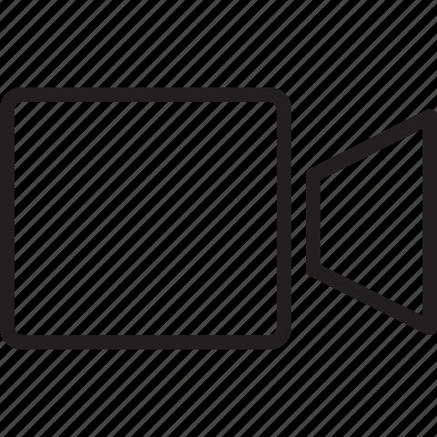 camera, line, media, movie, player, video icon