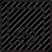 tv, video, youtube icon