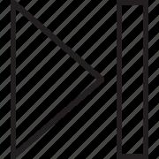 end, forward, last, next icon