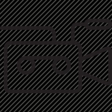camcorder, video camera icon