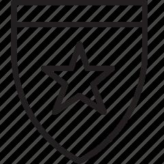 shield, star icon
