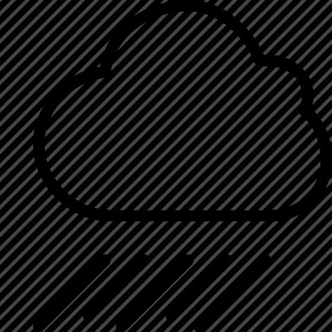 cloud, line, rain, rainy, weather icon