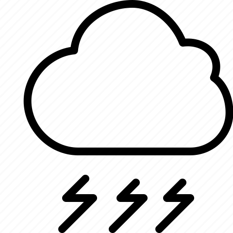 cloud, line, storm, thunderstorm, weather icon