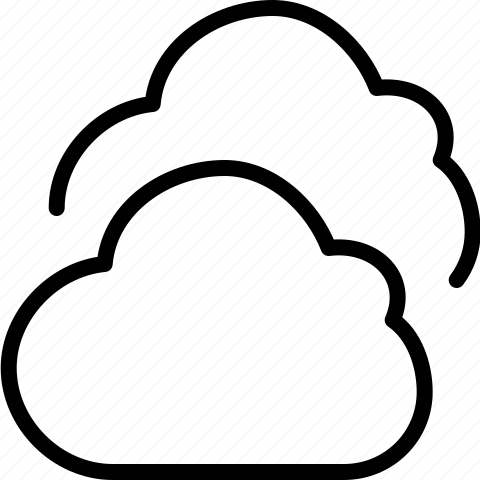 cloud, clouds, cloudy, line, weather icon