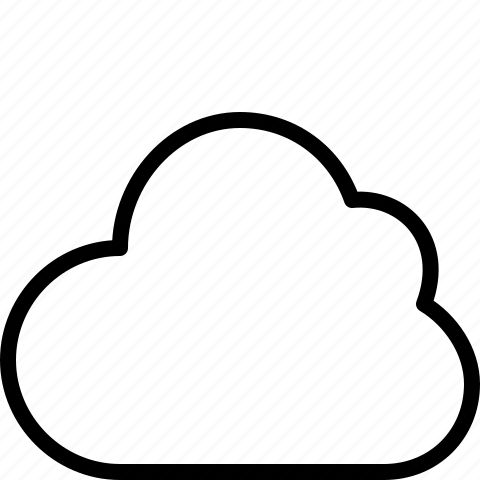 cloud, clouds, line, weather icon