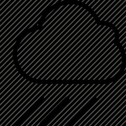 cloud, line, rain, weather icon