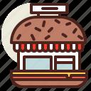 burger, fastfood, meal, restaurant, ville icon