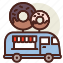 donut, fastfood, meal, restaurant, truck icon