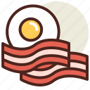 eggsbacon, fastfood, meal, restaurant icon