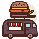 fast, fastfood, food, meal, restaurant, truck icon
