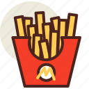 fastfood, french, fries, meal, restaurant icon