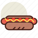dog, fastfood, hot, meal, restaurant icon