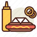 fastfood, hotdog, meal, restaurant icon