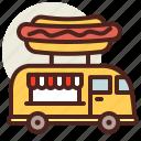 fastfood, hotdog, meal, restaurant, truck icon