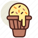 cone, fastfood, icecream, meal, restaurant icon