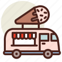 fastfood, icecream, meal, restaurant, truck icon
