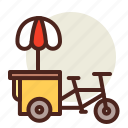 bike, cart, fastfood, indian, meal, restaurant icon