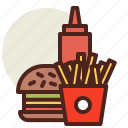 fastfood, meal, restaurant icon