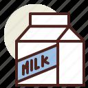 fastfood, meal, milk, restaurant icon