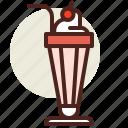 fastfood, meal, milkshake, restaurant icon