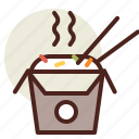 box, fastfood, meal, noodle, restaurant icon