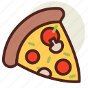 fastfood, meal, pizza, restaurant icon