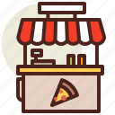 cart, fastfood, meal, pizza, restaurant icon