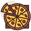 fastfood, meal, pizza, restaurant, slices icon