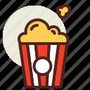 fastfood, meal, popcorn, restaurant icon