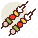 fastfood, meal, restaurant, skewers icon