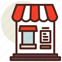 cart, fastfood, front, meal, restaurant, store icon